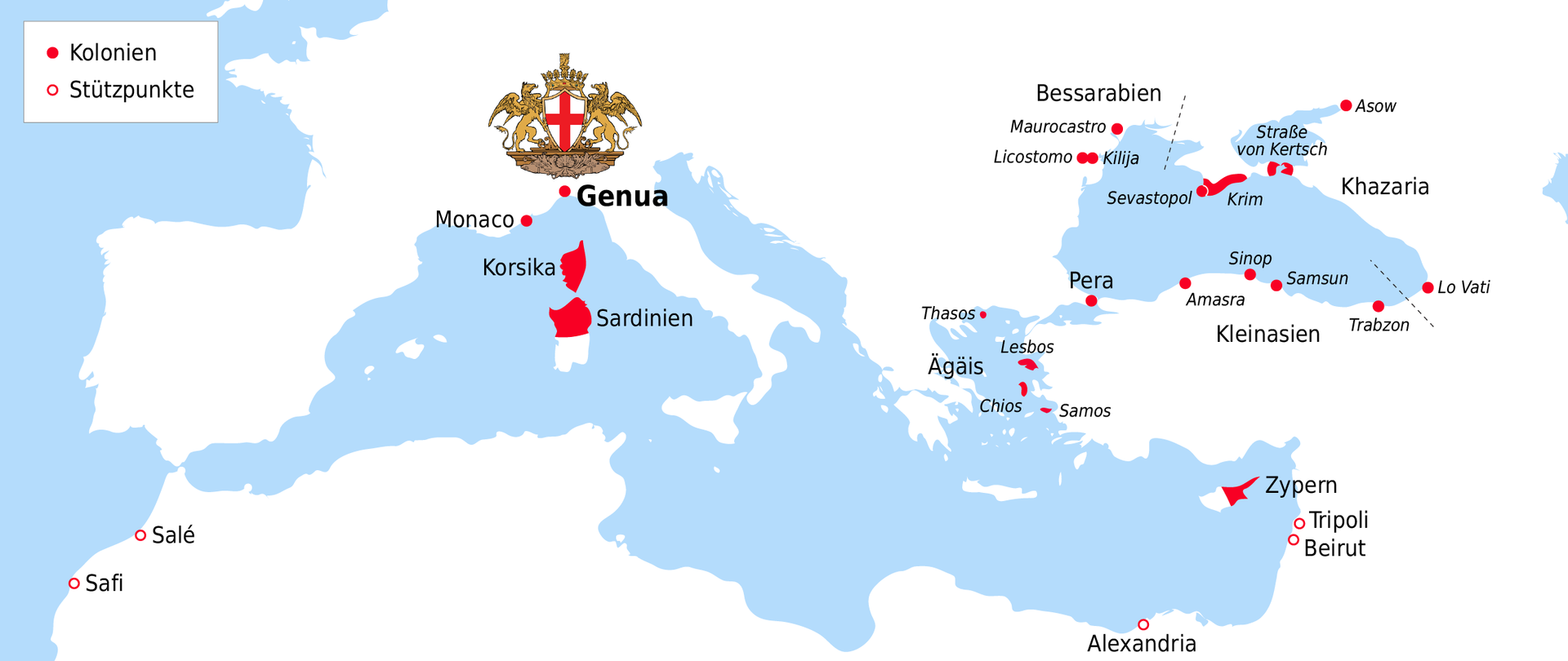 Colonies and strongholds of Genoa on the Black Sea coast